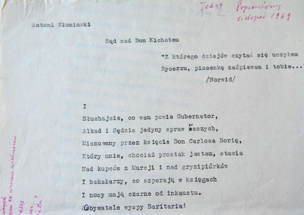 Antoni Słonimski Aktualności Bn Biblioteka Narodowa