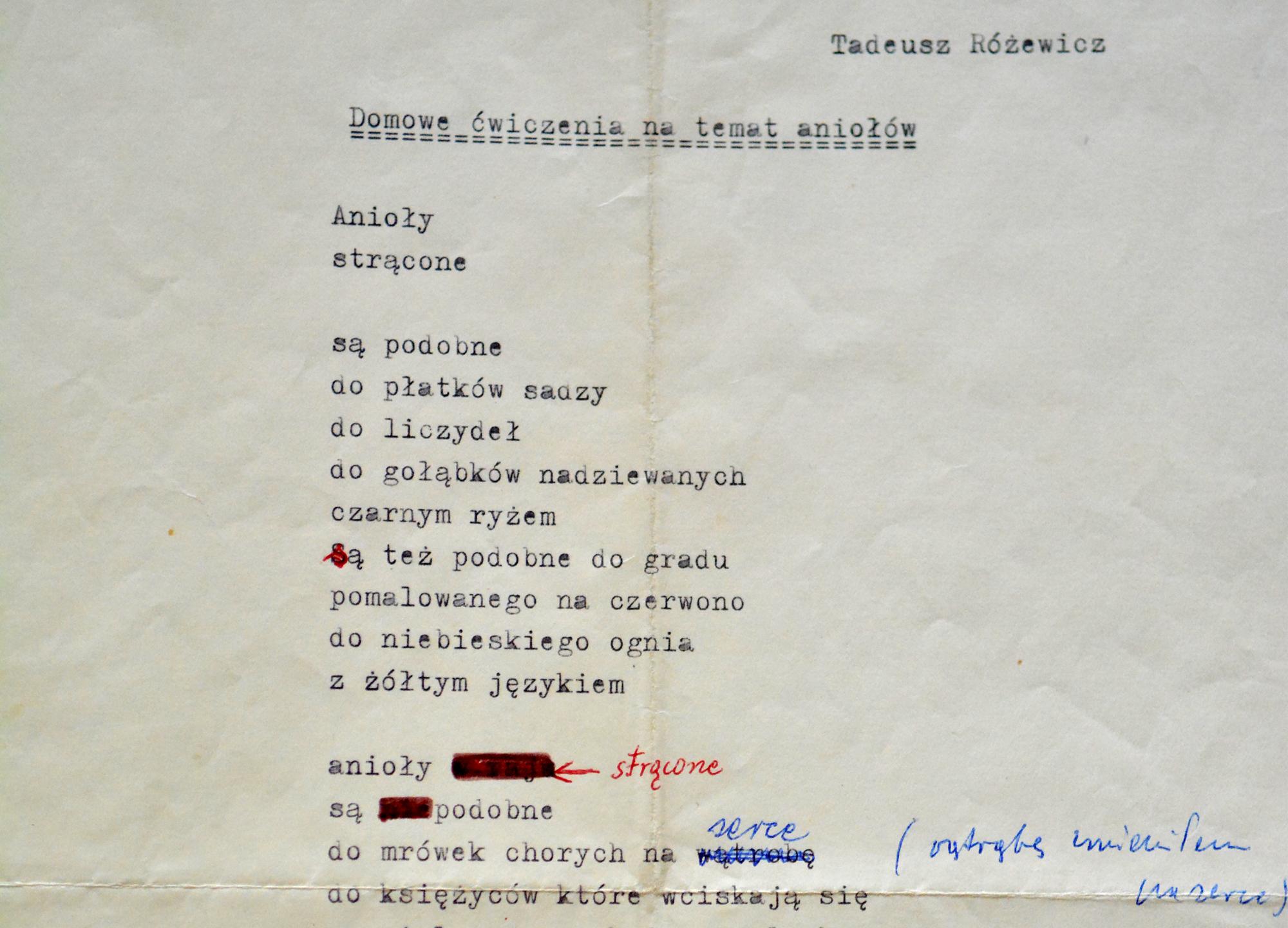 Tadeusz Różewicz Aktualności Bn Biblioteka Narodowa