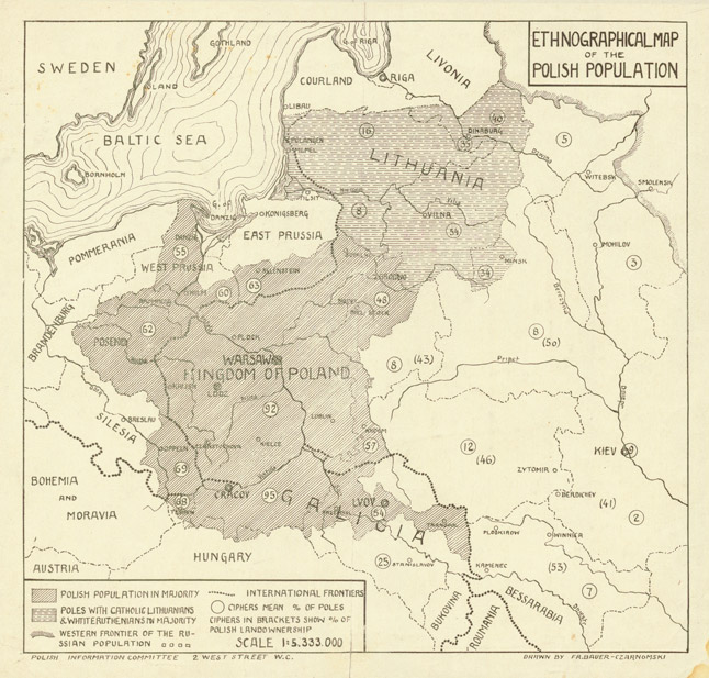 Ethnographical map of the polish population